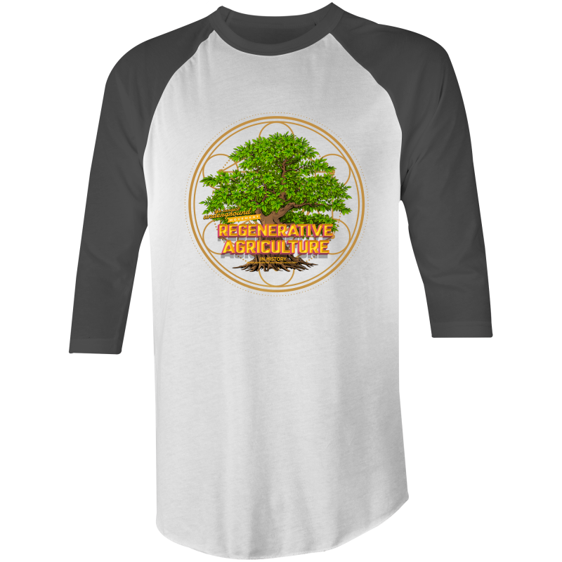 'Tree geometry' AS Colour Raglan - 3/4 Sleeve T-Shirt