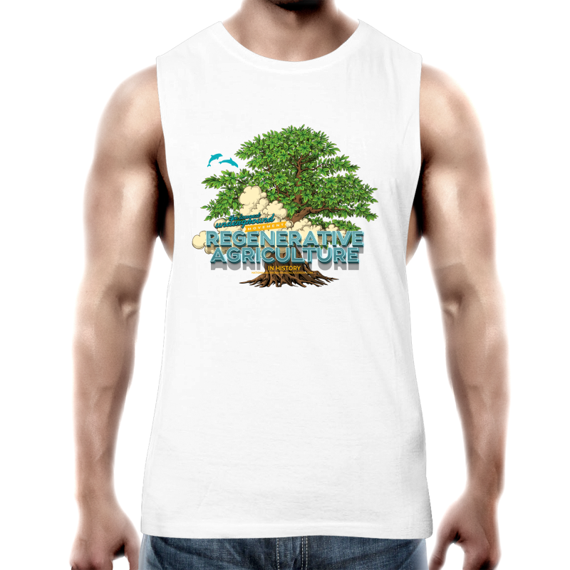 'Tree cloud' AS Colour Barnard - Mens Tank Top Tee