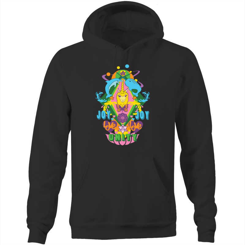 'Lama' AS Colour Stencil - Pocket Hoodie Sweatshirt
