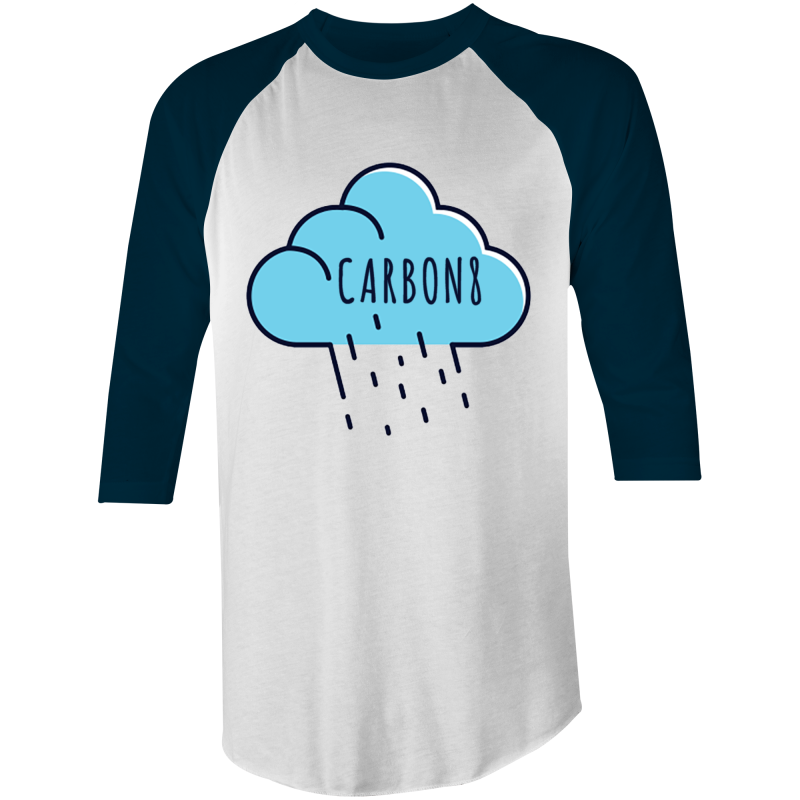 'Cloud' AS Colour Raglan - 3/4 Sleeve T-Shirt