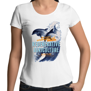 ' Dolphins'  AS Colour Mali - Womens Scoop Neck T-Shirt