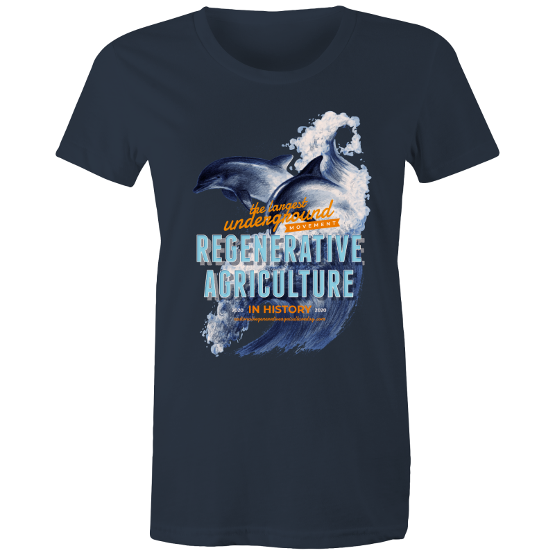 ' Dolphins'  AS Colour - Women's Maple Tee