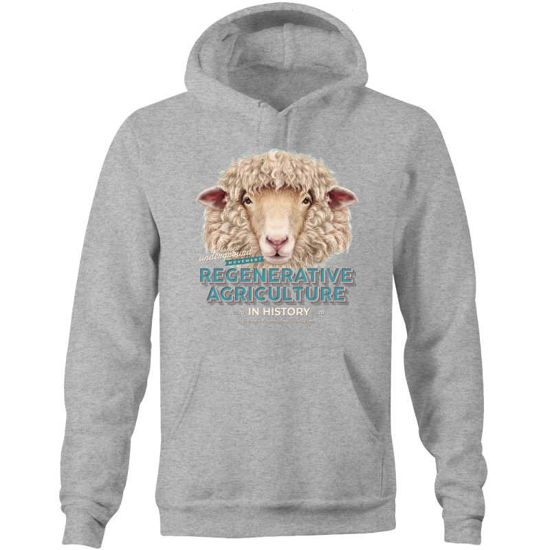 sheeplove AS Colour Stencil - Pocket Hoodie Sweatshirt
