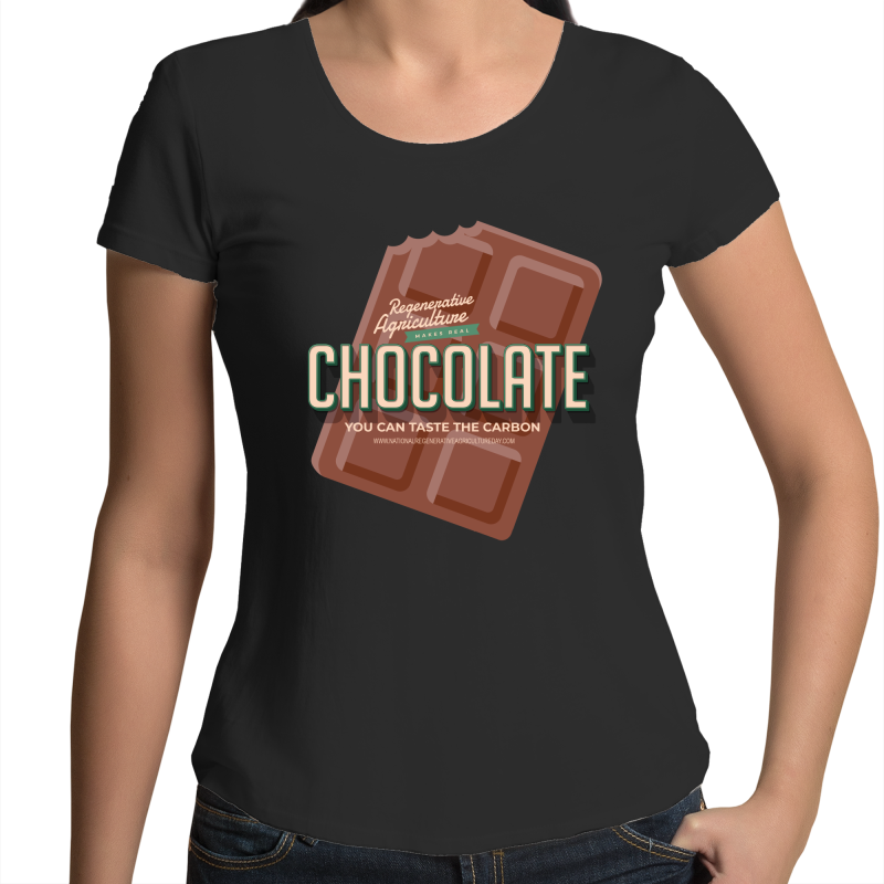 'Choco'  AS Colour Mali - Womens Scoop Neck T-Shirt