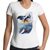 ' Dolphins'  AS Colour Bevel - Womens V-Neck T-Shirt
