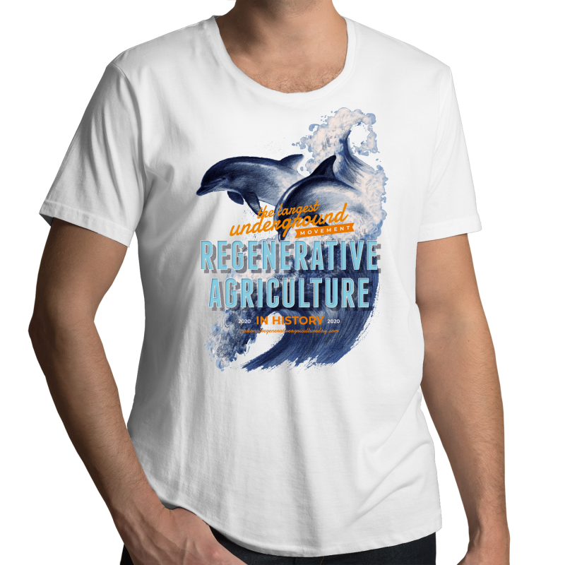 'Dolphins' AS Colour Shadow - Mens Scoop Neck T-Shirt