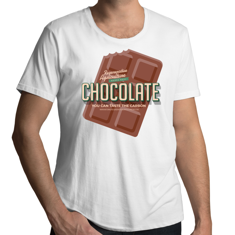 'Choco' AS Colour Shadow - Mens Scoop Neck T-Shirt