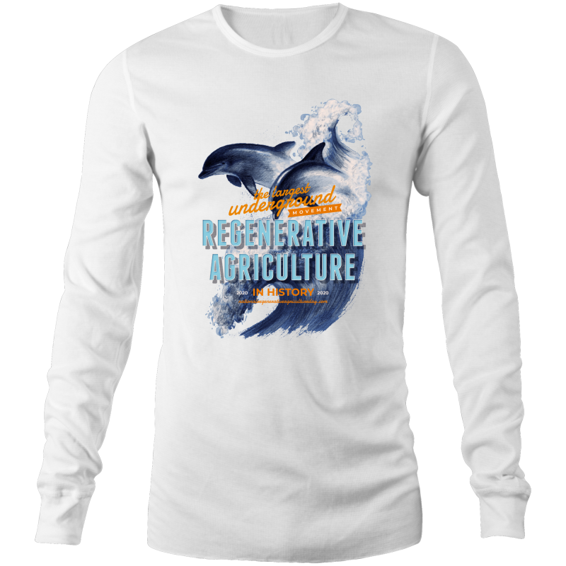 ' Dolphins'  AS Colour Base - Mens Long Sleeve T-Shirt