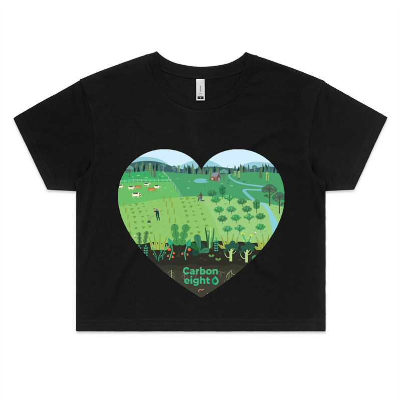 CARBONHEART - AS Colour - Womens Crop Tee