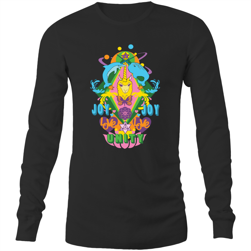 'Lama' AS Colour Base - Mens Long Sleeve T-Shirt