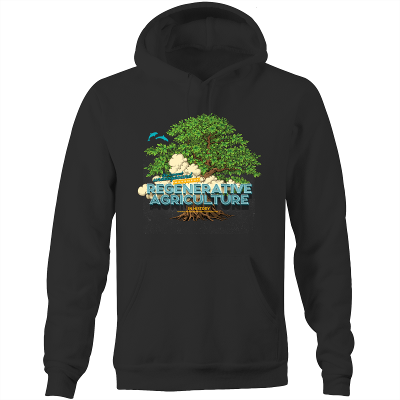 'Tree cloud' AS Colour Stencil - Pocket Hoodie Sweatshirt