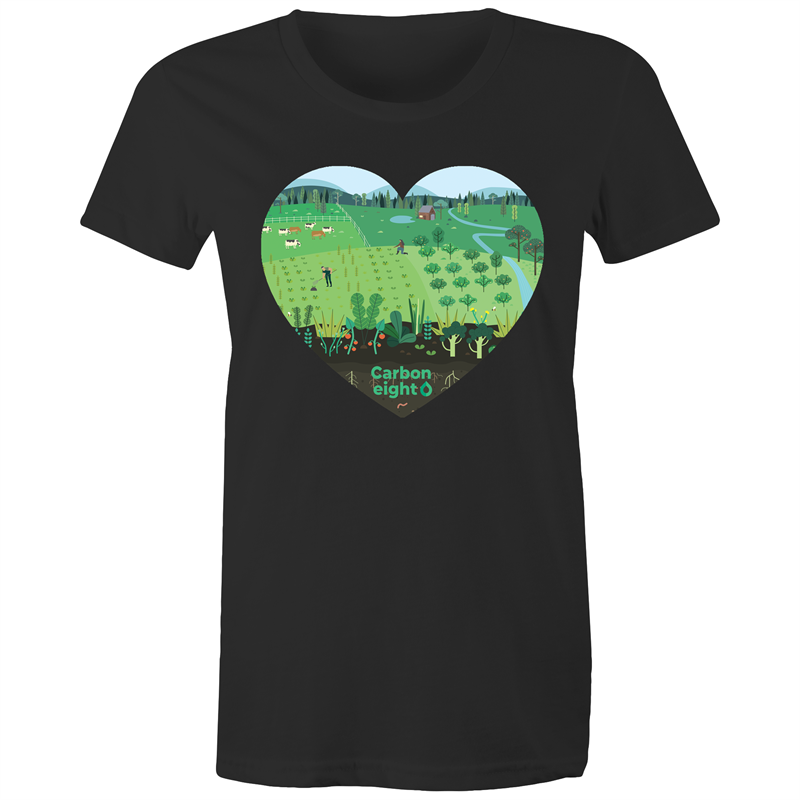 CARBONHEART - AS Colour Wafer - Womens Crew T-Shirt