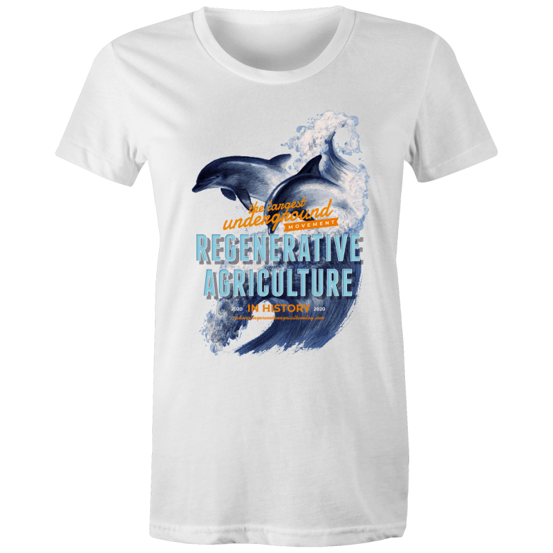 ' Dolphins'  AS Colour Wafer - Womens Crew T-Shirt