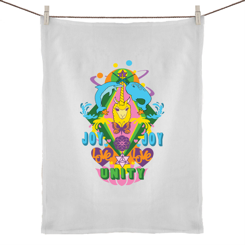 'Lama' 50% Linen 50% Cotton Tea Towel