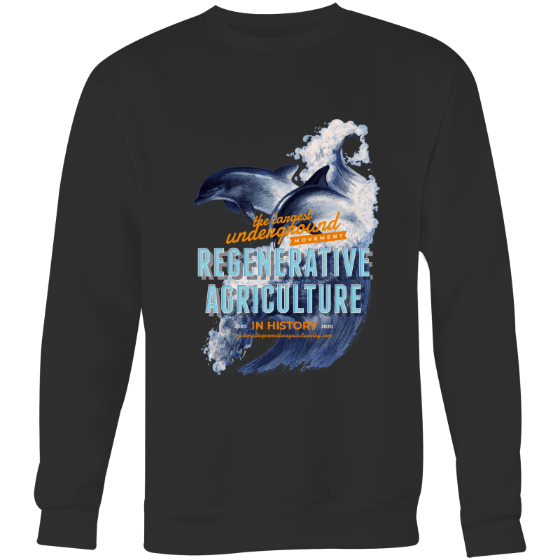 ' Dolphins'  AS Colour Box - Crew Neck Jumper Sweatshirt
