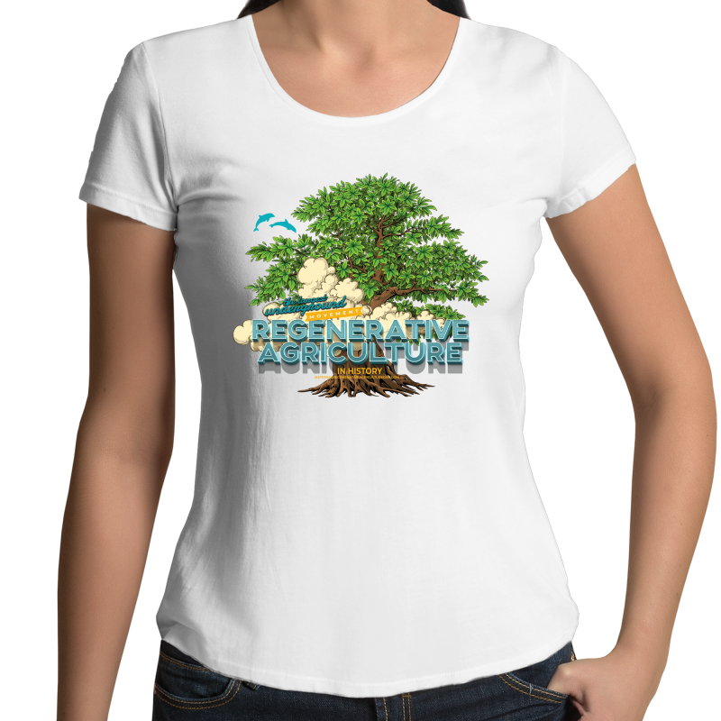 'Tree cloud' AS Colour Mali - Womens Scoop Neck T-Shirt