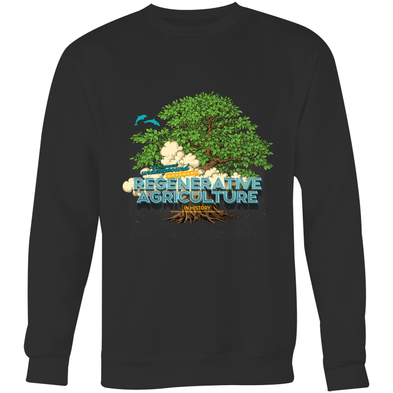 'Tree cloud' AS Colour Box - Crew Neck Jumper Sweatshirt