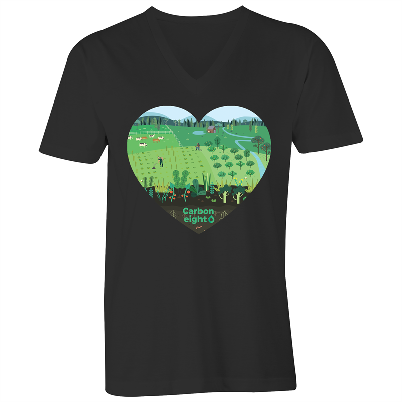 CARBONHEART -AS Colour Tarmac - Mens V-Neck Tee