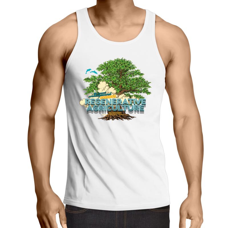 'Tree cloud' AS Colour Lowdown - Mens Singlet Top
