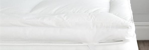 """Hollowfibre  Polycotton King  Mattress Toppers  5ft wide upto 6ft 6/"""" length"""
