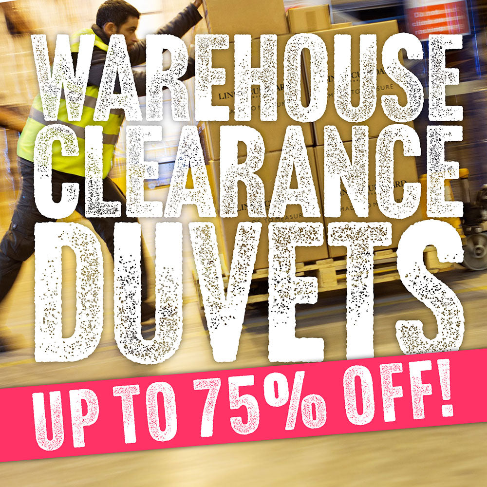 50% OFF DUVETS & PILLOWS