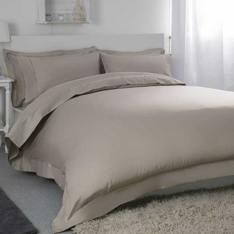 Egyptian Cotton Blend Sateen 400TC Pewter Bedding - 50% OFF