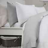 Egyptian Cotton Blend Sateen 400TC Ivory Bedding - 50 % OFF