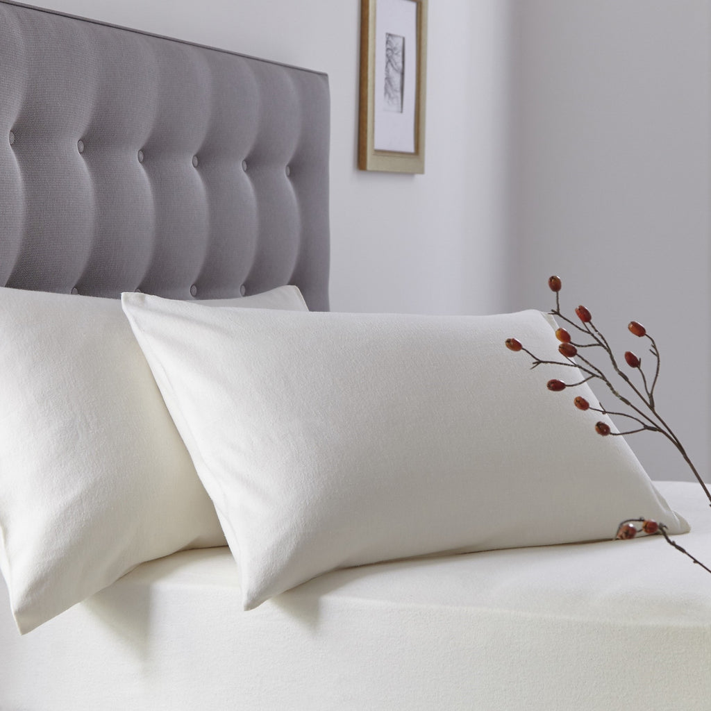 Superior Luxury Cotton Flannelette SUPER KING Pillowcases - 50% OFF