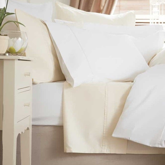 Superior Luxury Percale 200TC Ivory Bed Linen