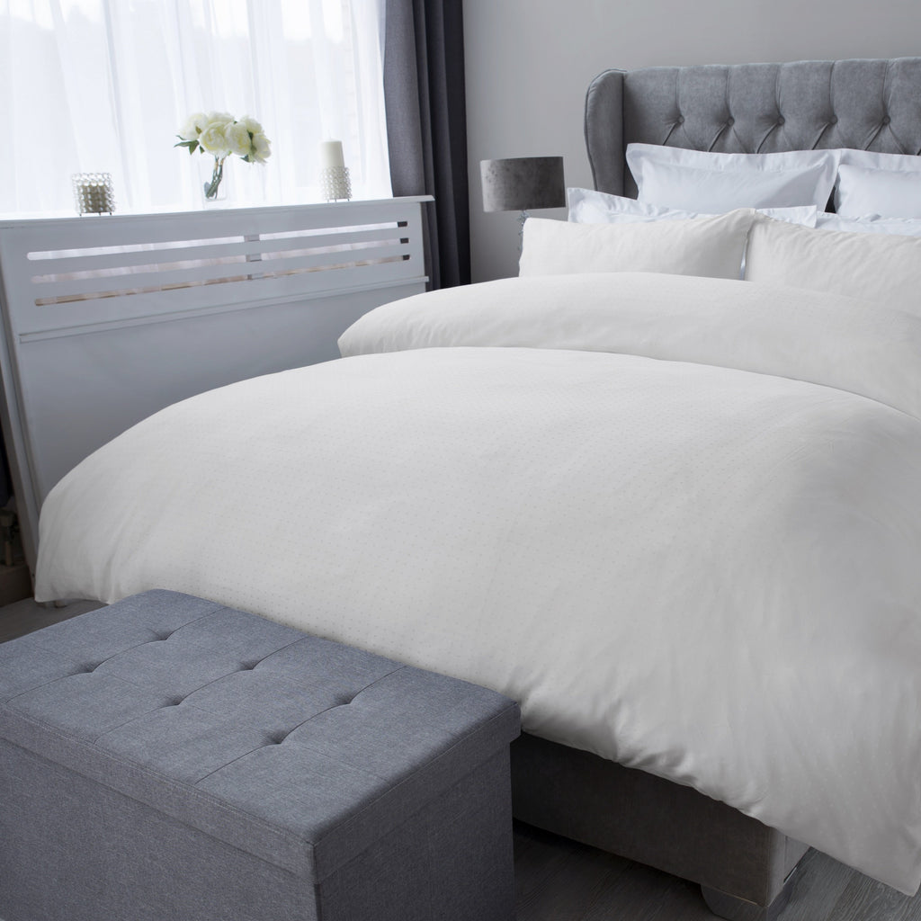 Staten Island Ivory 300TC Duvet Cover Sets - 50% OFF