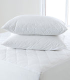 Natural 100% Pure Cotton Pillow Protector Pair