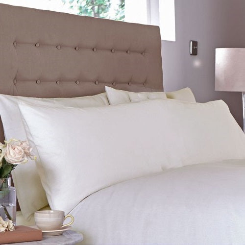 Classic 100% Cotton Percale Bolster Pillowcases