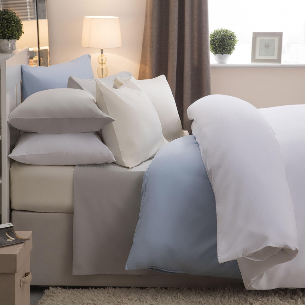 Flannelette Fitted 100/% Brusshed Cotton Winceyette Bed Sheet or Pillow Cover