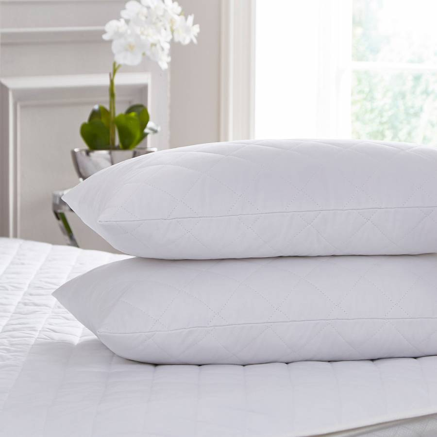 Cotton Touch Quilted SUPER KING Pillow Protector Pair