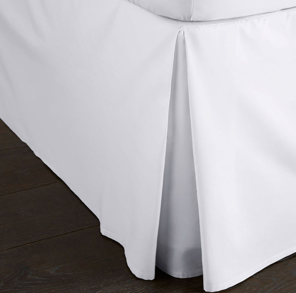Deep Fitted Pleated Valance Sheets 100/% Egyptian Cotton 200 THREAD COUNT