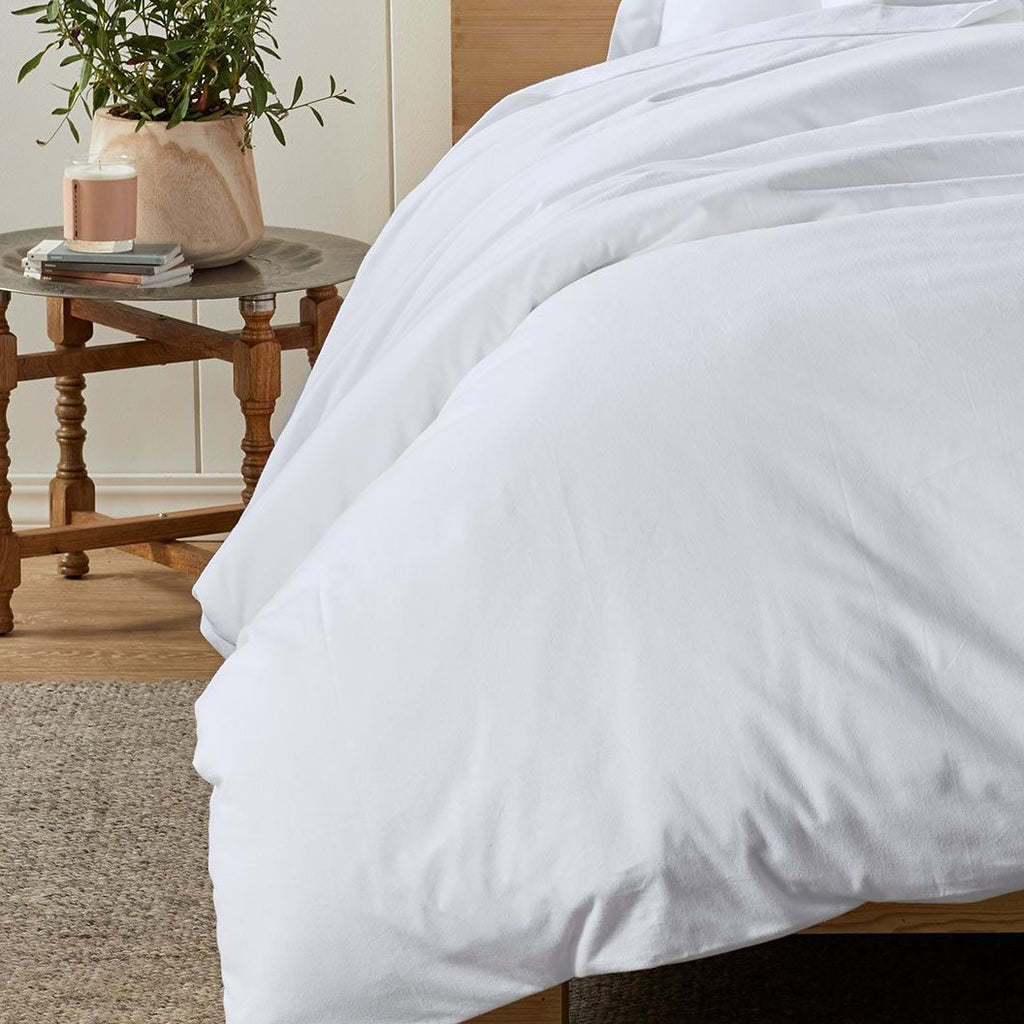 Superior Luxury White Cotton Flannelette Duvet Covers