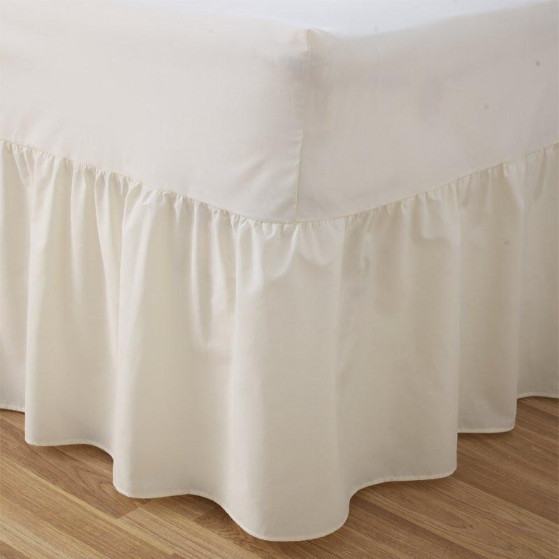Easycare Polycotton Frilled Fitted Valance Sheets