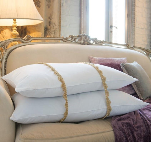 Luxury Hungarian Goose Feather & Down Large Emperor Pillow Pair