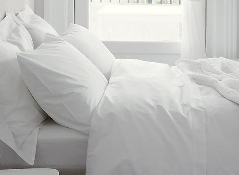 100% Egyptian Cotton - 200TC - White or Ivory (Light Cream)