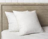 Luxury White Hungarian Goose Feather & Down SQUARE Pillow Pair
