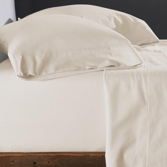 Superior Luxury Flannelette Cream Extra Deep Fitted Sheets