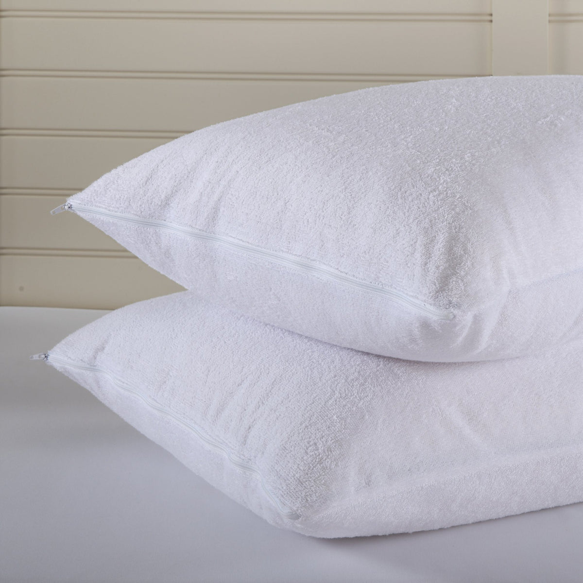 100% Cotton Terry Waterproof Pillow Protector Pair