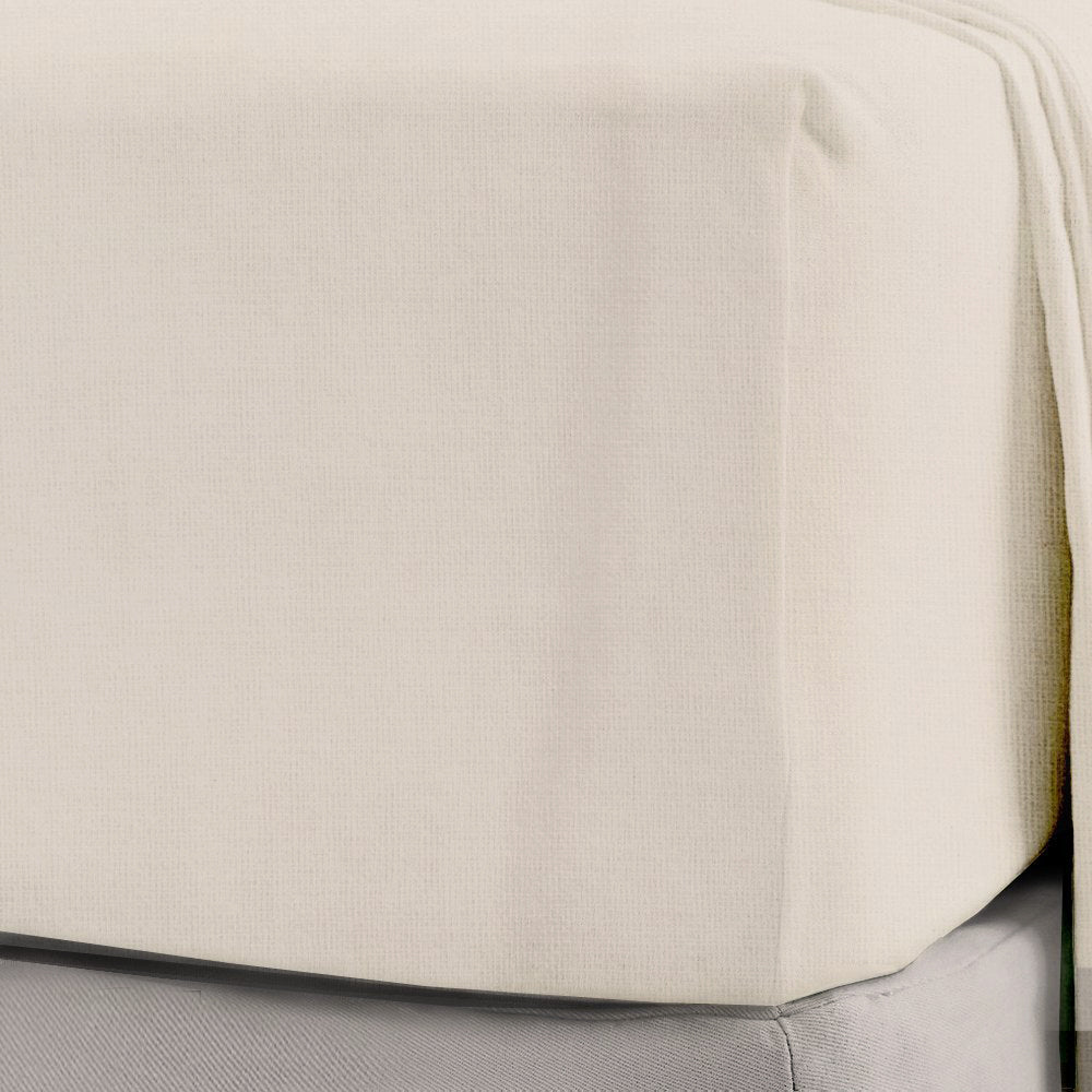 Superior Luxury Flannelette Cream Extra Deep Sheets