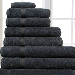 Linen Cupboard Luxury Turkish Cotton Towels Black