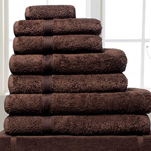 Linen Cupboard Luxury Turkish Cotton Towels Chocolate Colour