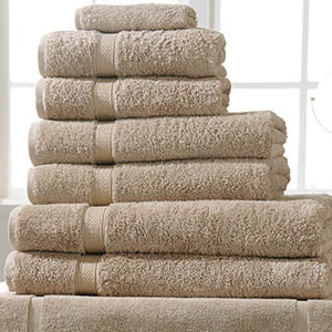 Linen Cupboard Luxury Turkish Cotton Towels Pebble Colour