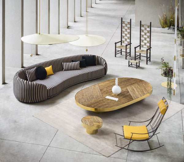 "During the 10th edition of Design Miami/ in December 2017, FENDI presented WELCOME!, a space designed for ""good living"", featuring furniture pieces by young Italian designer Chiara Andreatti. Andreatti is considered one of the most interesting designers representing new Italian creativity.   Source: https://www.yellowtrace.com.au/chiara-andreatti-fendi-welcome-collection/"