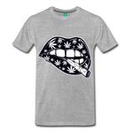 Weed Lips T-Shirt - heather gray