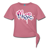 Music Knotted T-Shirt - mauve