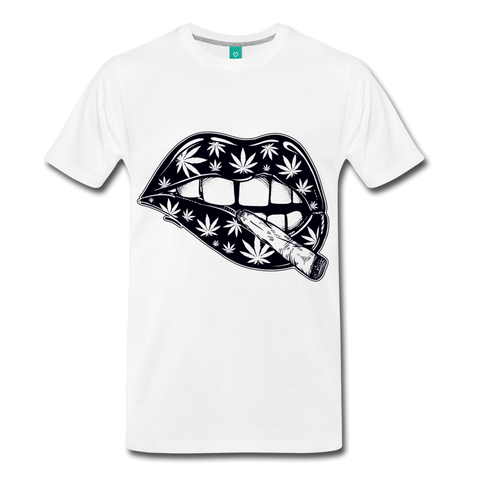 Weed Lips T-Shirt - white